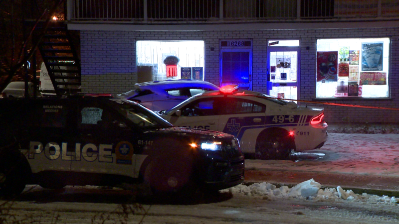 A young woman was stabbed at a depanneur where she works on Sunday night / Cosmo Santamaria, CTV News Montreal
