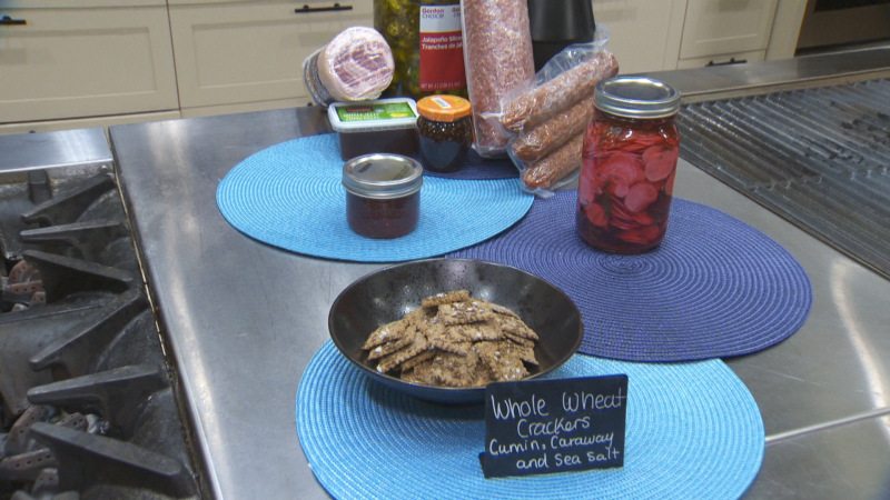 Make a holiday Charcuterie with Blue Flame's Dilly Relish Refrigerated Pickles