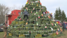 N.S. community erects lobster trap Christmas tree