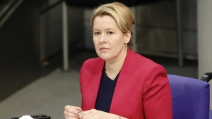 Franziska Giffey, Germany's minister for women and families, is pictured here. (Michael Kappeler/picture alliance/Getty Images/CNN)