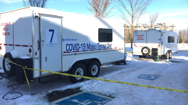 A mobile COVID-19 testing site in Spruce Grove in the parking lot of the Tri-Leisure Centre is one of four Alberta Health Services set up in Spruce Grove, St. Albert, Leduc and Sherwood Park.