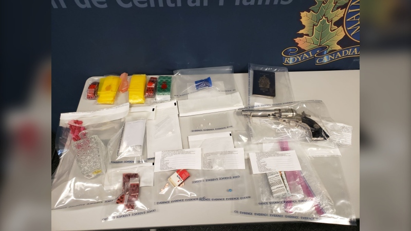 RCMP found drugs and other illicit items during a search warrant. (Source: RCMP)