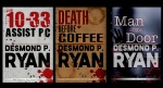Desmond P. Ryan's Mike O'Shea crime series covers are seen in these images from realdesmondryan.com.
