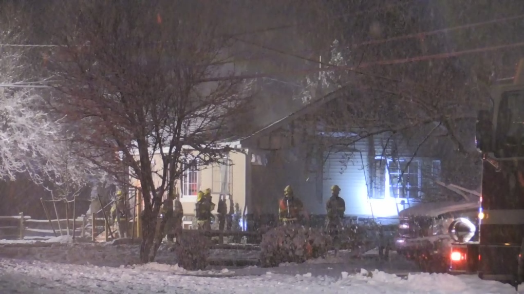 Alliston house fire