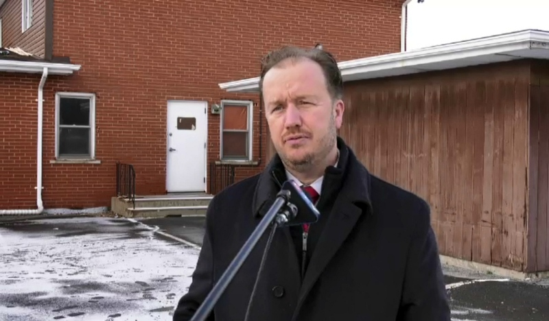 On Monday, Sudbury MP Paul Lefebvre announced $566,000 to convert a former RCMP building in Sudbury into 14 affordable housing units. (Jaime McKee/CTV News)