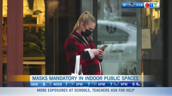 Masks mandatory in BC, schools reaction