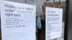 Stores in Toronto close while the city is placed in a 28-day lockdown. (Mike Walker/CTV News Toronto)