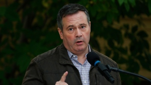 Alberta Premier Jason Kenney answers questions after announcing $43 million in repairs and improvements to provincial parks at a news conference in Calgary, Alta., Tuesday, Sept. 15, 2020. THE CANADIAN PRESS/Todd Korol