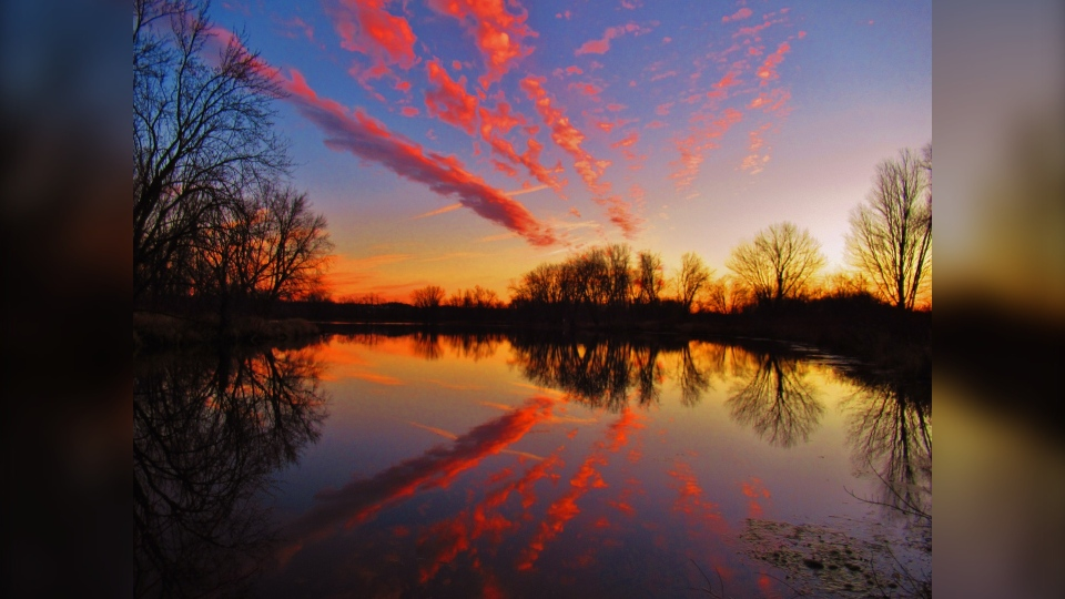 A sunset taken at Petrie Island in east Ottawa, ON. (Photo courtesy of Greg Scriver)