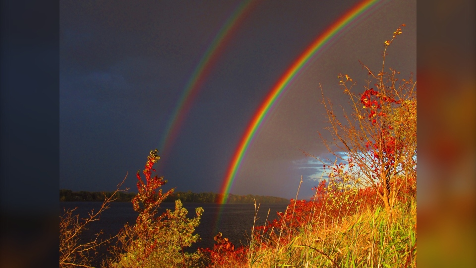 Double rainbow Greg Scriver
