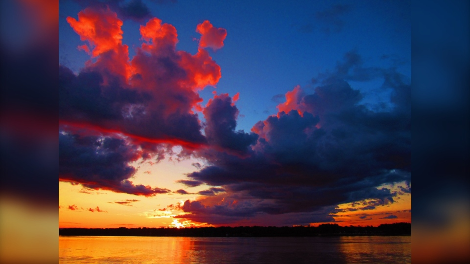 A photo of a sunset taken after a thunderstorm in Ottawa. (Photo courtesy of Greg Scriver)
