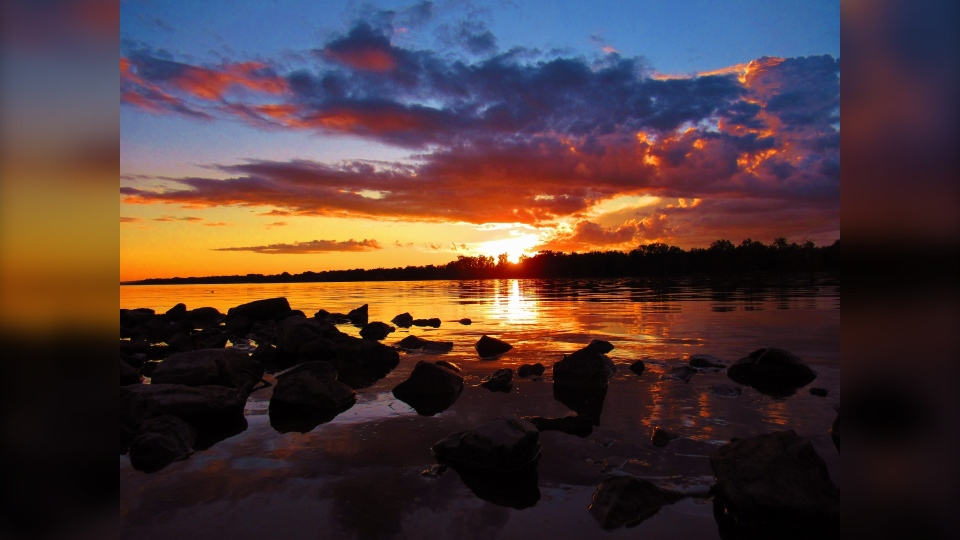 Ottawa River thunderstorm sunset Greg Scriver