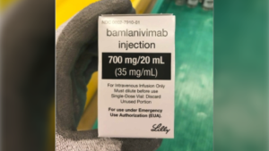Bamlanivimab, which is an antibody that may be used on COVID-19 patients with mild to moderate symptoms. (Eli Lilly and Company)