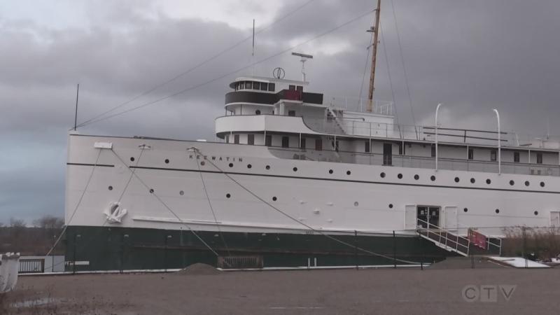 The SS Keewatin in Port McNicoll on Nov. 23, 2020 (Roger Klein/CTV News)