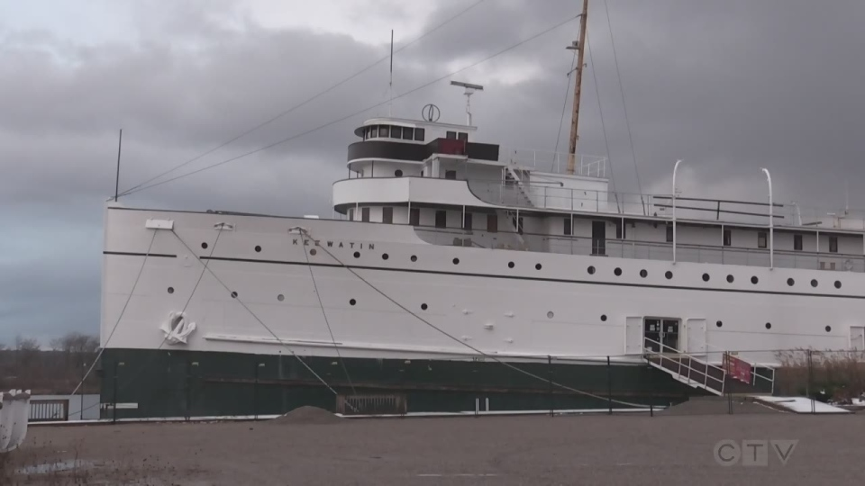 The SS Keewatin in Port McNicoll on Nov. 23, 2020 (Roger Klein/CTV News)
