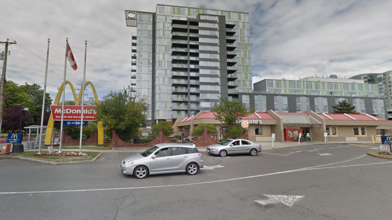 McDonald's restaurant located on No.3 road in Richmond as seen on Google street view