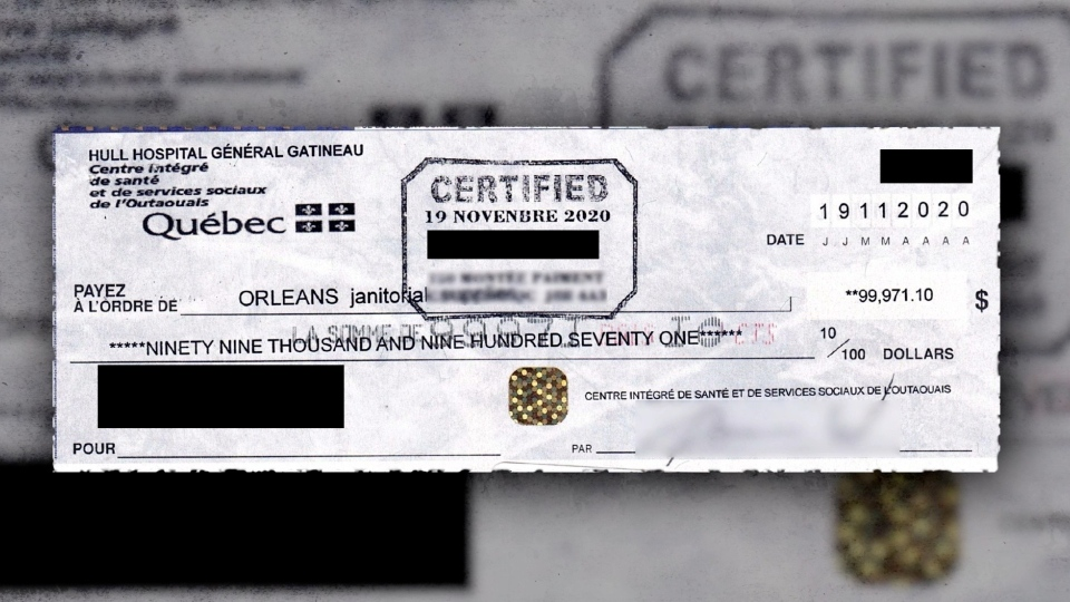 Orleans Janitorial Supplies fake cheque