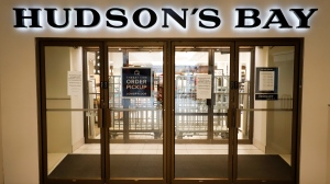 The Hudson's Bay in Calgary, Alta., Wednesday, March 18, 2020, amid a worldwide COVID-19 flu pandemic. THE CANADIAN PRESS/Jeff McIntosh