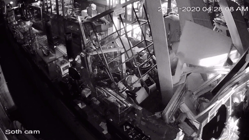Thieves drove a truck through the front wall of Beck Antiques & Jewellery's east-end location in the early hours of Nov. 23, 2020.