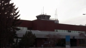 Regina airport control tower up in the air