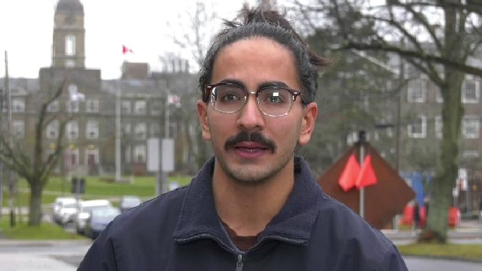 Dalhousie entrepreneurial management student Jad Ghiz is not sure he'll be able get home to his family for Christmas.