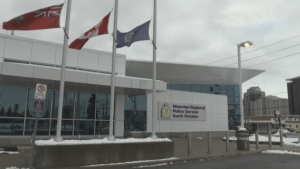 Flags were lowered to half-mast at all WRPS divisions to honour Const. Marc Hovingh who was killed in the line of duty.
