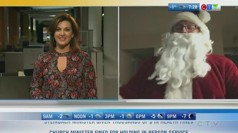 Santa coming to Holiday Alley