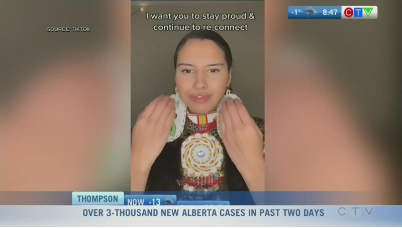 Cree woman sharing Indigenous culture on TikTok