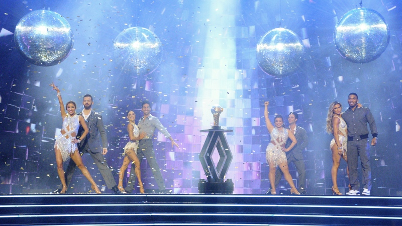 "Four celebrity and pro-dancer couples competed in the live season finale of ""Dancing with the Stars."" In the end, one walked away the winner. (Eric McCandless/ABC via CNN)"