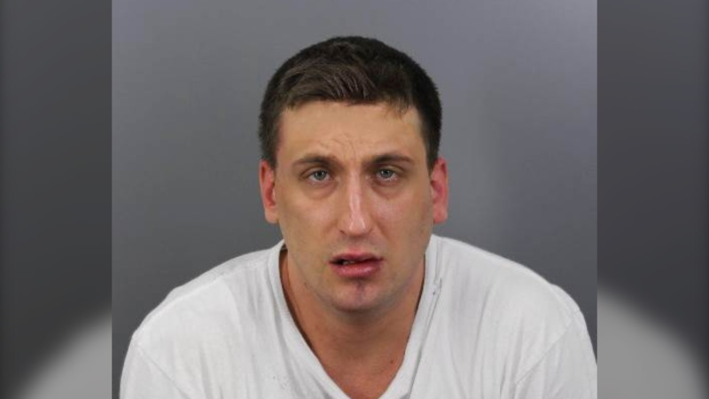 Nicolas Brazeau-D'Avignon, 31, was arrested Nov. 23, 2020 and faces a charge of second-degree murder in the Nov. 14 death of Matthew Francis O'Heron in Gatineau, Qc. (Photo provided by Gatineau police)