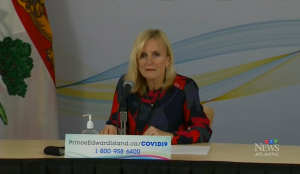 """""""COVID-19 may be around our province, and it is likely that P.E.I. will have cases related to the public exposures and outbreaks currently underway elsewhere in Atlantic Canada,"""" said Dr. Heather Morrison, P.E.I.'s chief medical officer of health during a news update on Tuesday."""