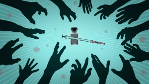 Vaccines to protect against COVID-19 are being approved in Canada and elsewhere. (AP Illustration / Peter Hamlin)
