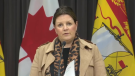 New Brunswick chief medical officer of health Dr. Jennifer Russell provides an update on COVID-19 at a news conference in Fredericton on Nov. 24, 2020.