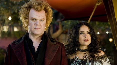 John C. Reilly and Salma Hayek in Universal Pictures' 'Cirque Du Freak: The Vampire's Assistant'