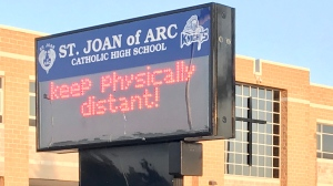 St. Joan of Arc Catholic High School in Barrie, Ont. (Mike Arsalides/CTV News)
