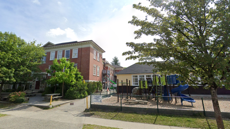 McBride Elementary School in Vancouver, B.C. is seen in an undated Google Maps image.