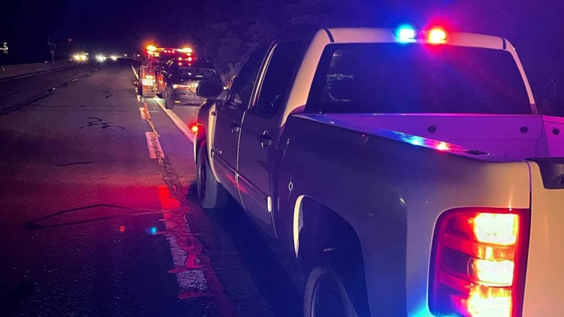 Police say the driver was spotted travelling roughly 155 km/h along the Pat Bay highway Monday night: (Central Saanich Police / Twitter)