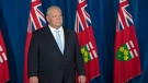 Ontario Premier Doug Ford listens to questions at the daily briefing at Queen's Park in Toronto on Tuesday November 17, 2020. THE CANADIAN PRESS/Frank Gunn