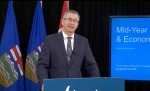 Alberta Finance Minister Travis Toews says he doesn't know when the budget will be balanced.