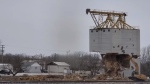 On Nov. 24, 2020, crews finished the demolition of the Arden grain elevator – a towering 50,000-bushel elevator built 94 years ago in 1926. (Source: Brad Meyers)