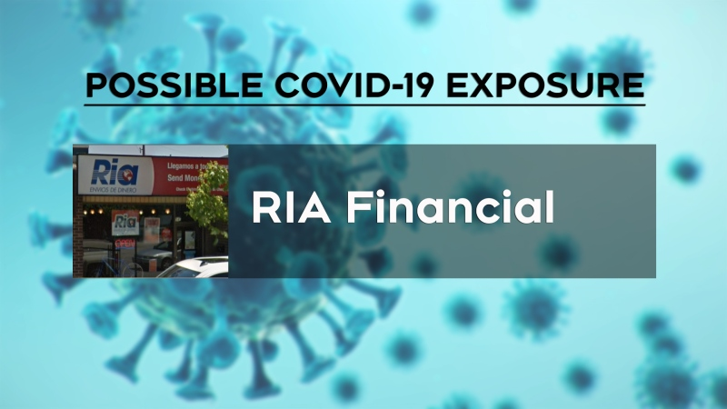WECHU added RIA Financial to its possible COVID-19 public exposure list on Tuesday, Nov. 24, 2020.