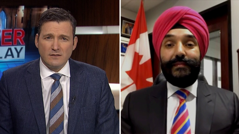 Solomon questions Bains on vaccine availability