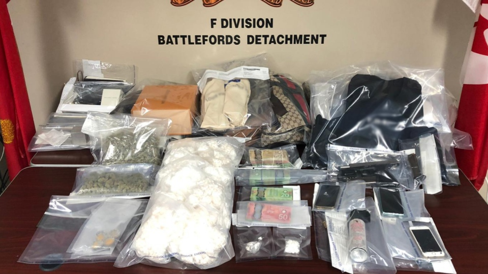 RCMP say these items were seized in North Battleford. (RCMP)
