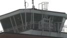 The Regina International Airport's air traffic control tower. (Wayne Mantyka/CTV News)