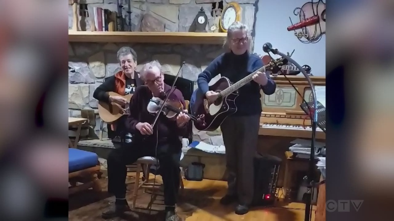 The Piette family from Lavigne, southeast of Sudbury, does the fiddle standard, 'St. Anne's Reel.'