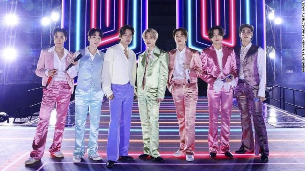 K-pop group BTS, arguably the biggest boy band in the world, earned their first ever Grammy Award nomination on Tuesday for their hit song 'Dynamite.' (Big Hit Entertainment/AMA 2020/Getty Images)