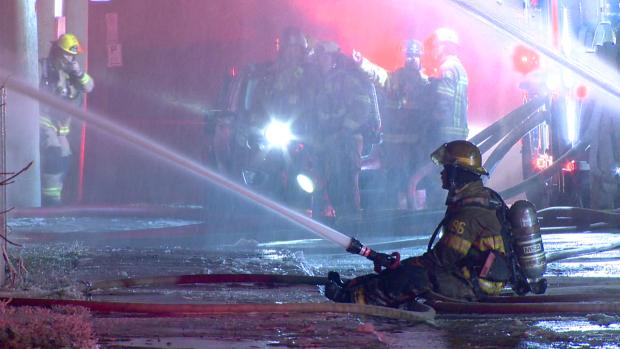 Firefighters battle major blazes in Laval, St-Hyacinthe