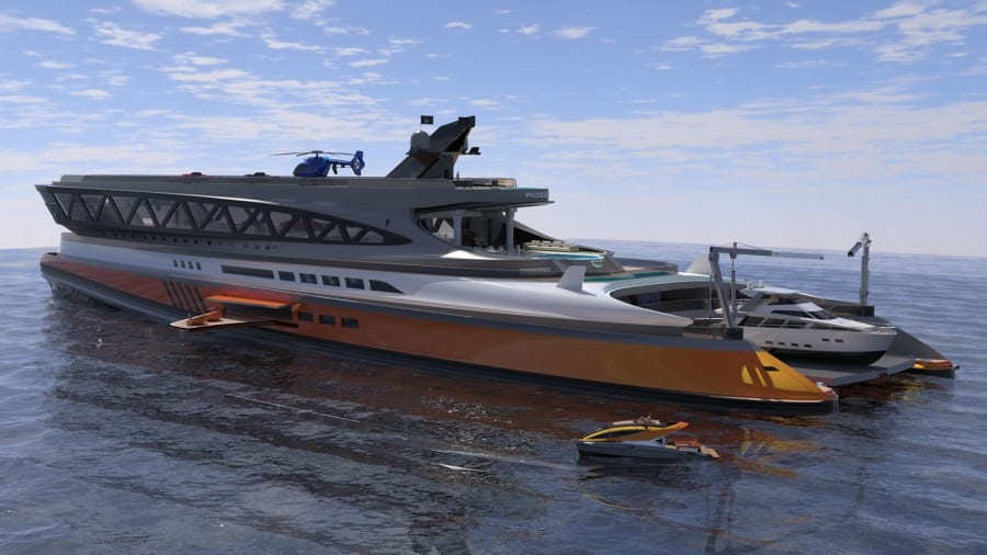 According to the team at Lazzarini Design Studio, Prodigium is capable of reaching an estimated cruising speed of about 22 knots. (Lazzarini Design Studio / CNN)