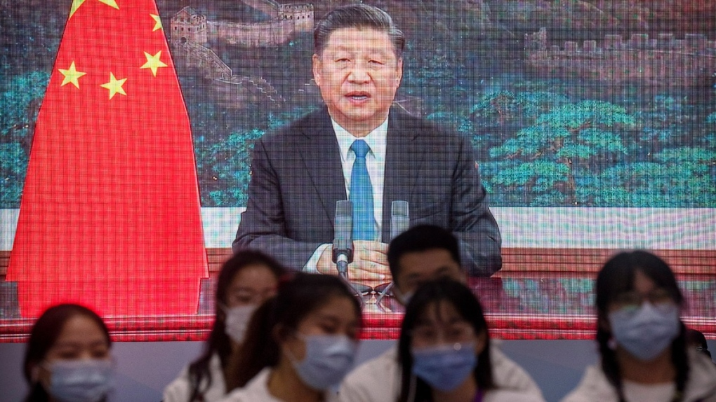 Chinese President Xi Jinping on TV