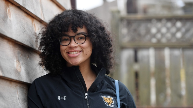Sierra Sparks poses in this photo after being named a Rhodes Scholar. (Photo via Dalhousie University)